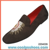 Special embroidered men velvet loafers manufacturer